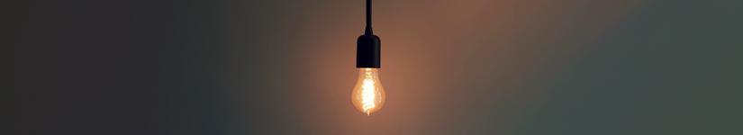 Light bulb banner
