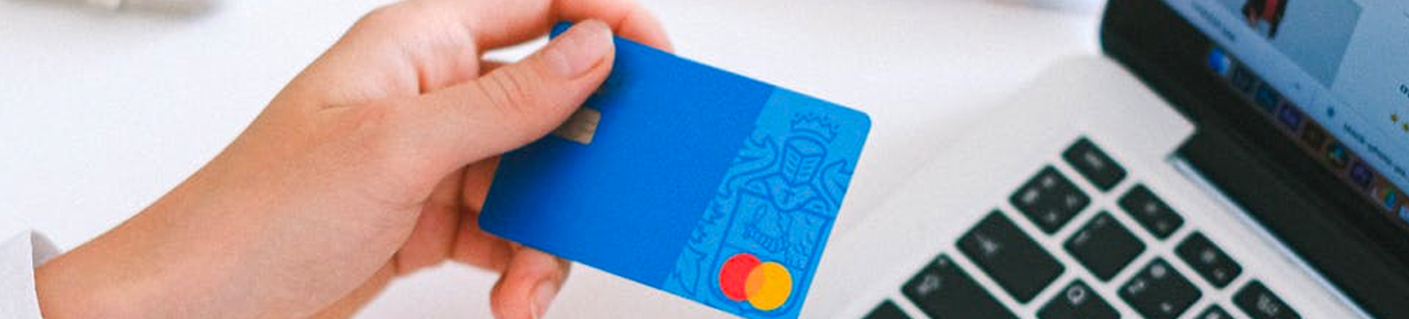 Credit card online purchase banner