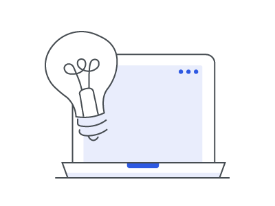 Monitor with light bulb