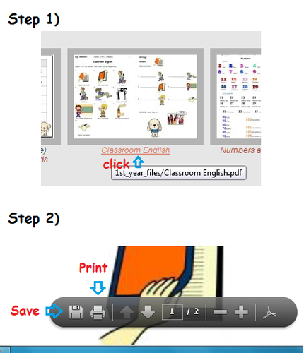 How to print the worksheets