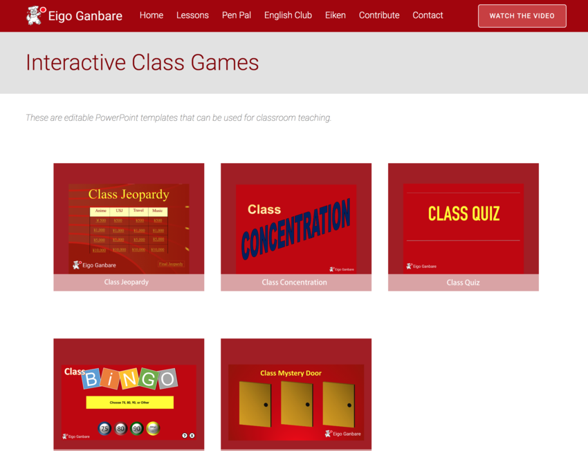 Interactive PowerPoint Games
