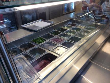 トッピングのお肉や野菜