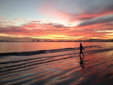 ロサンゼルス:ロングビーチの夕...