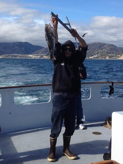 その日一番大きかった魚の披露