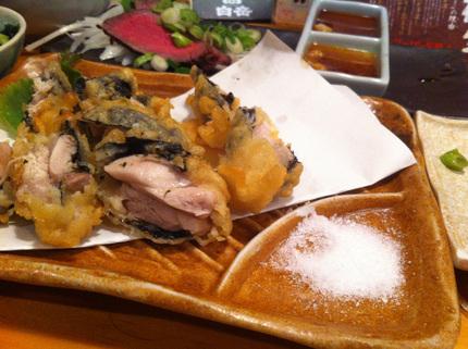 地鶏もも肉のいそべ揚げ