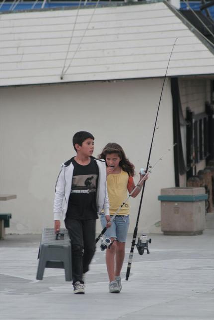 子供たちも楽しめる釣り場