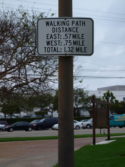 公園は1.32マイルと以外と広...