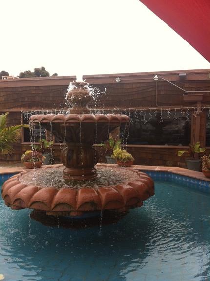 パティオの噴水