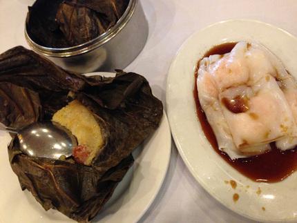 ちまき、海老の米麺巻き