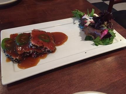 Seared Yellowfin Tuna Sashimi