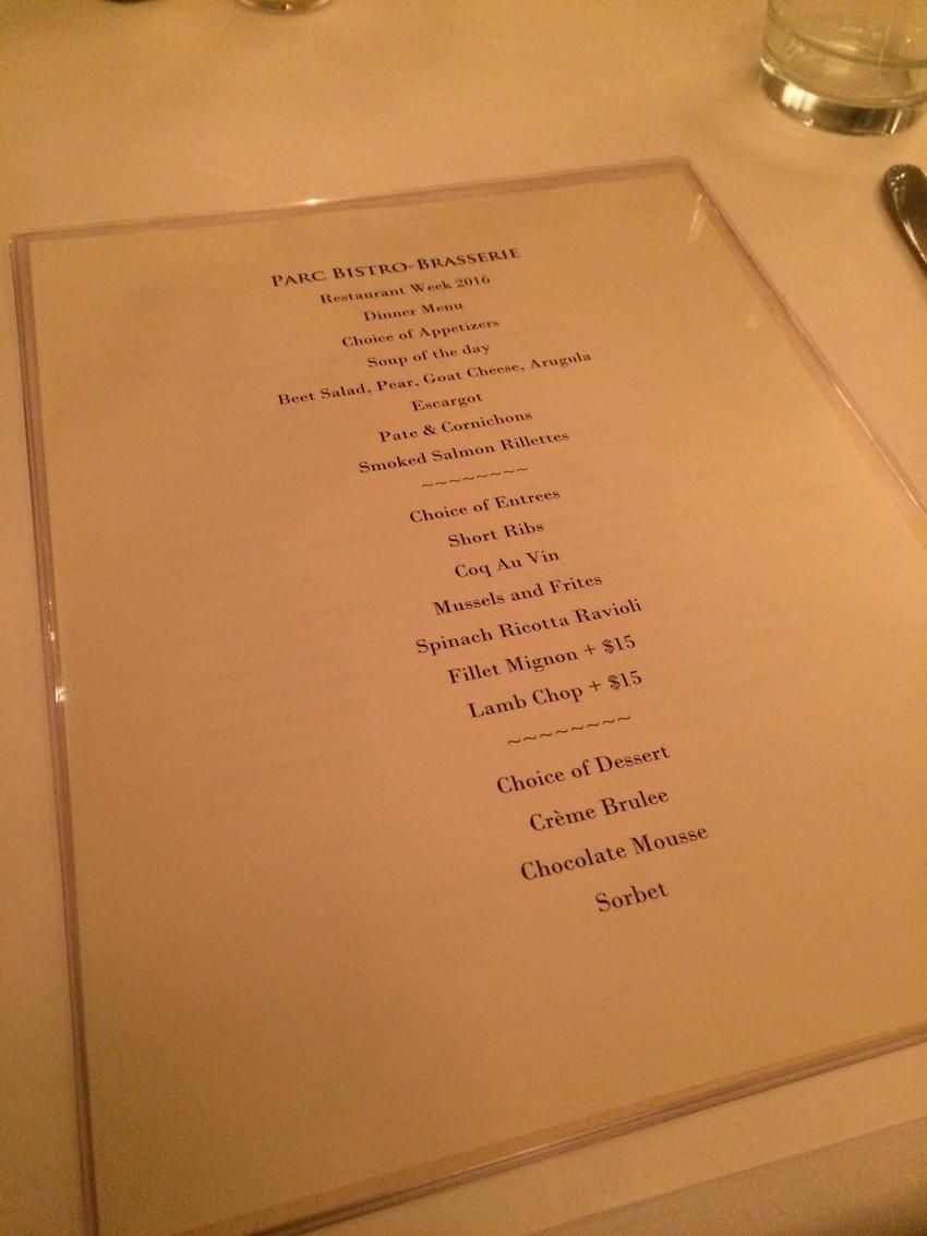 Restaurant Week...
