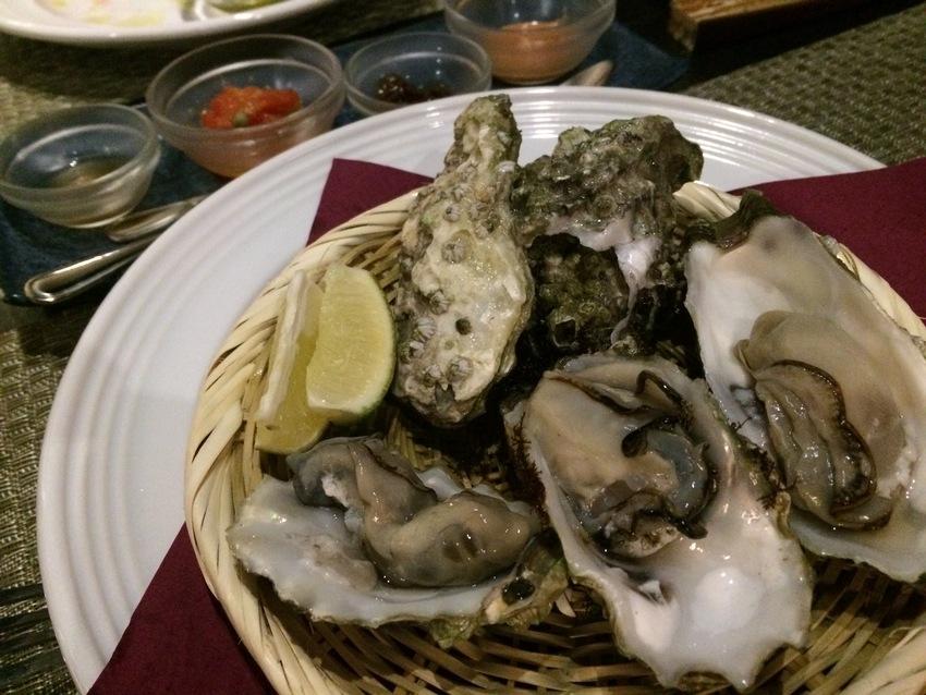 生牡蠣の前菜
