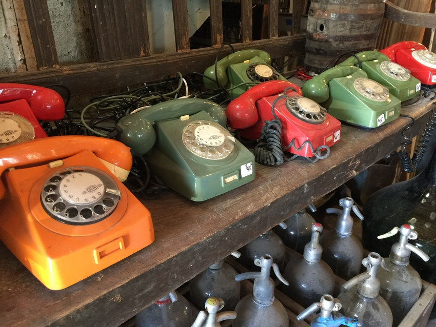 懐かしの電話!