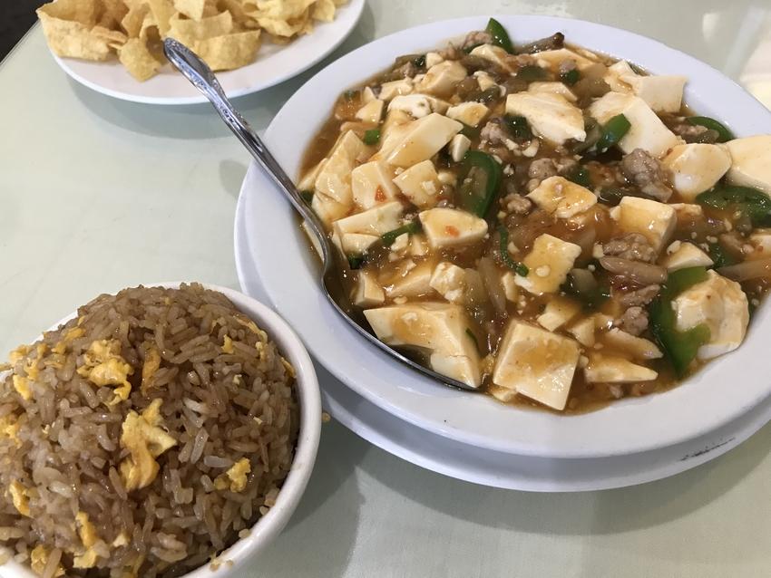 麻婆豆腐とランチメニューに付い...