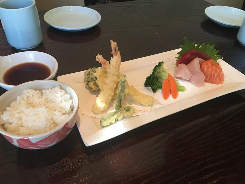 天ぷら+刺身定食