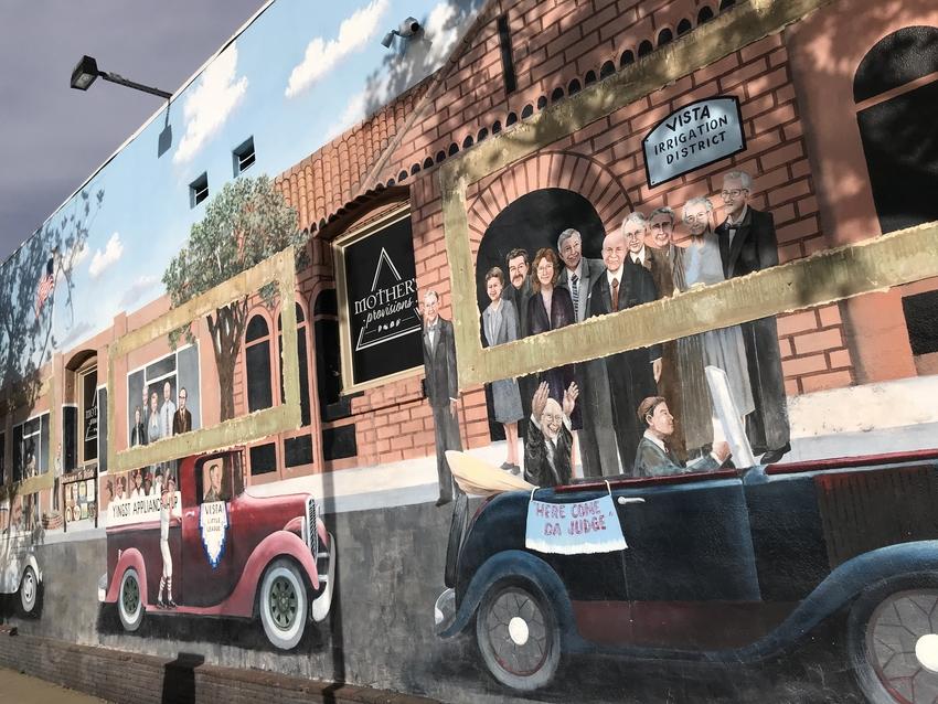お店の壁画