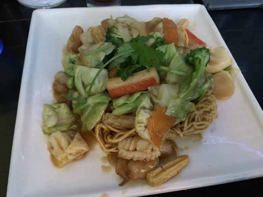 Pan Seared Crispy Egg Noodles