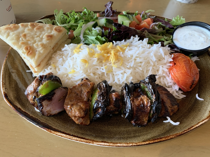 Bistro Filet Beef Kabob Plate