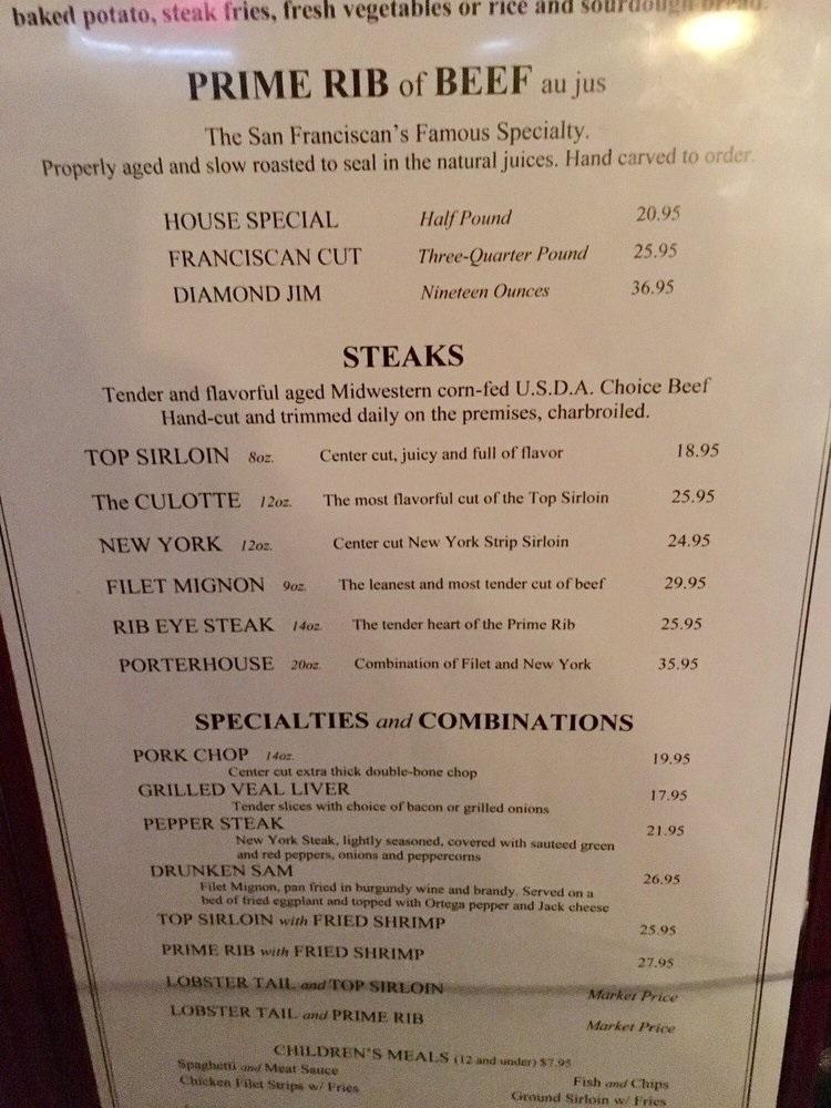 アメリカでステーキを食べるとな...
