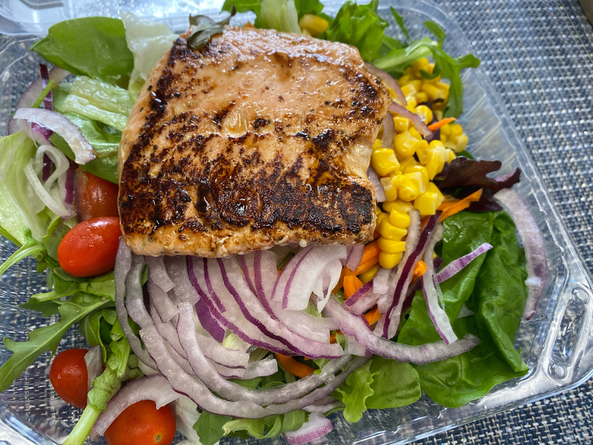 Salmon Steak Salad