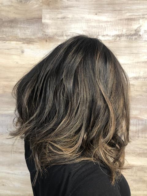 カラーをした部分の髪が伸びても...