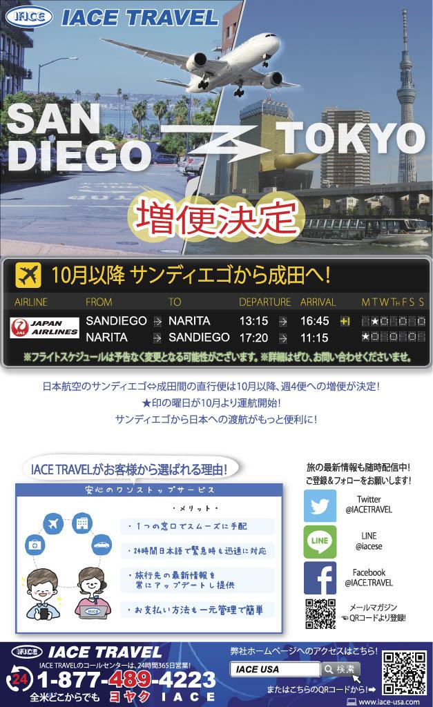 日本航空 サンディエゴ⇔成田線...