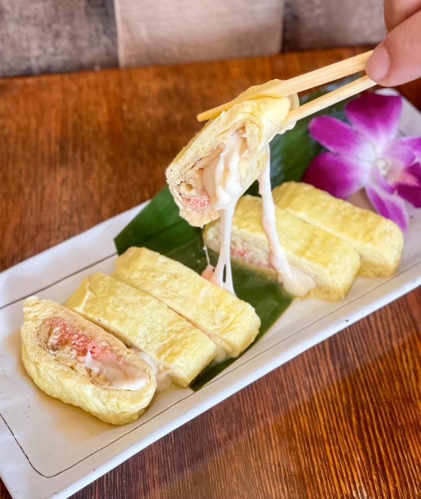 明太チーズ出汁巻き卵