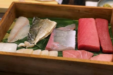 Authentic sushi by Tsukiji-acqu...