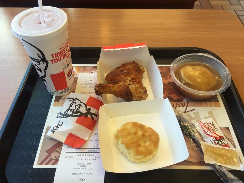 KFC ランチメニュー $5....