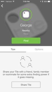 tile App の画面