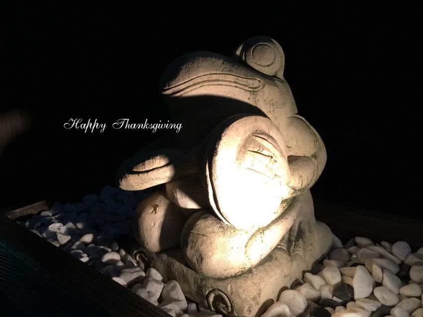 明日は感謝祭で祭日