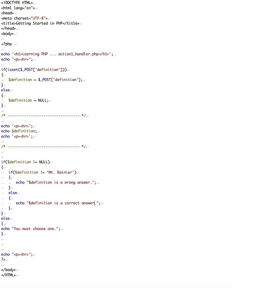PHP Program (action1_handler...