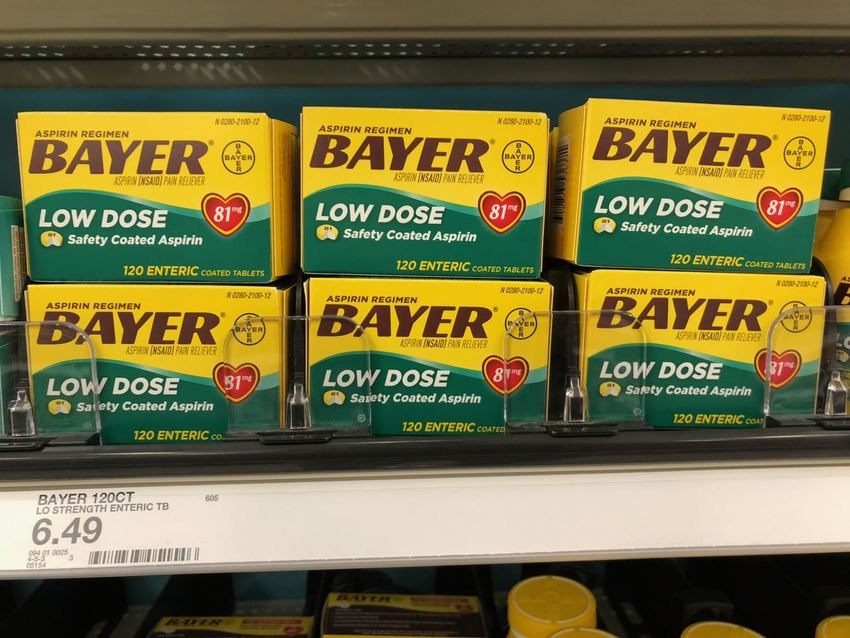Low Dose Aspirin are not bein...