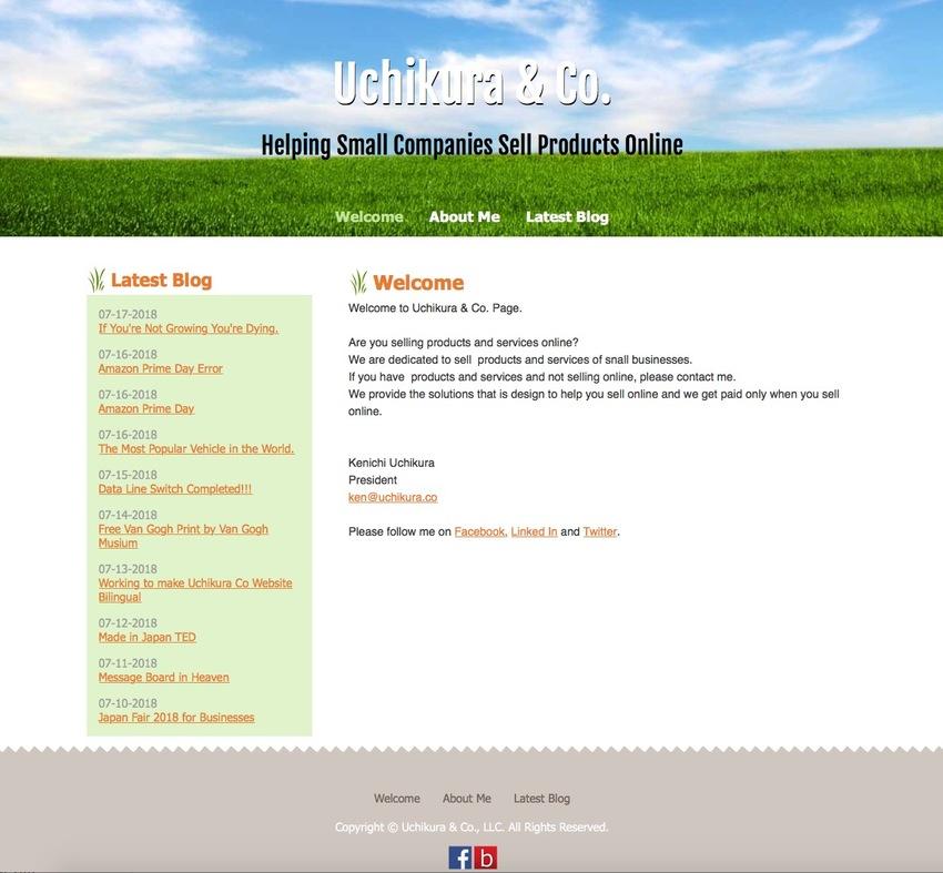 Uchikura Co Website Renewal