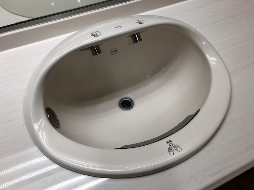 This sink has everything!