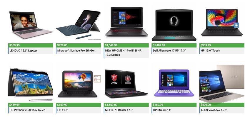 Assorted Laptop PC Deals