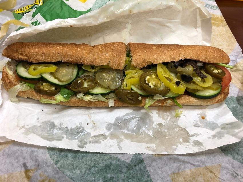 Subway's Veggie Delight Sand...