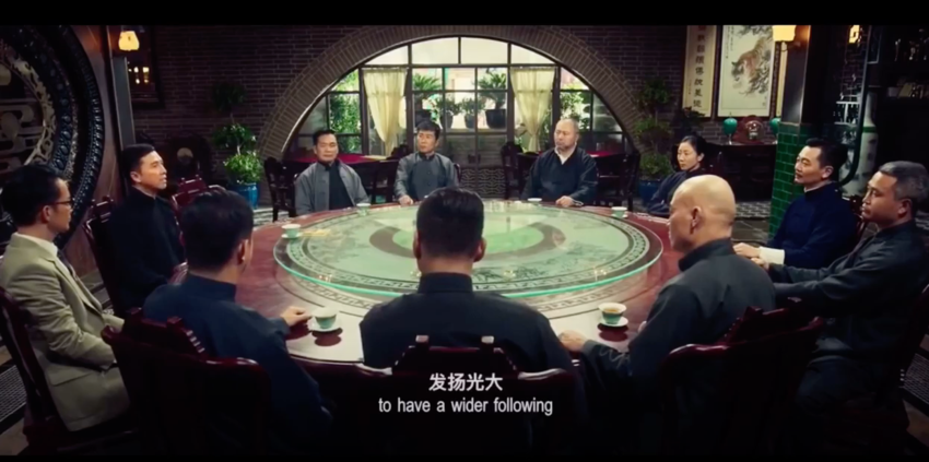 This is a scene from IP Man 4...