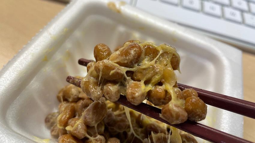 夕食は納豆