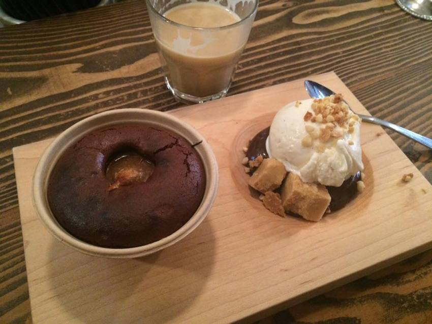 Peanut butter molten cake with...