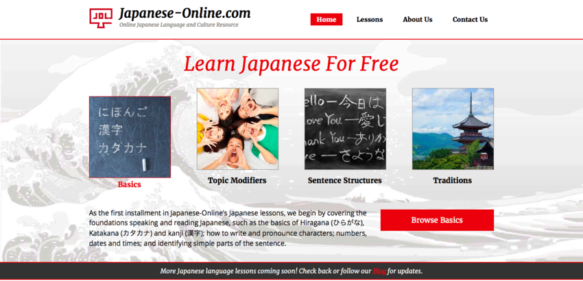 Welcome to Japanese-Online.c...