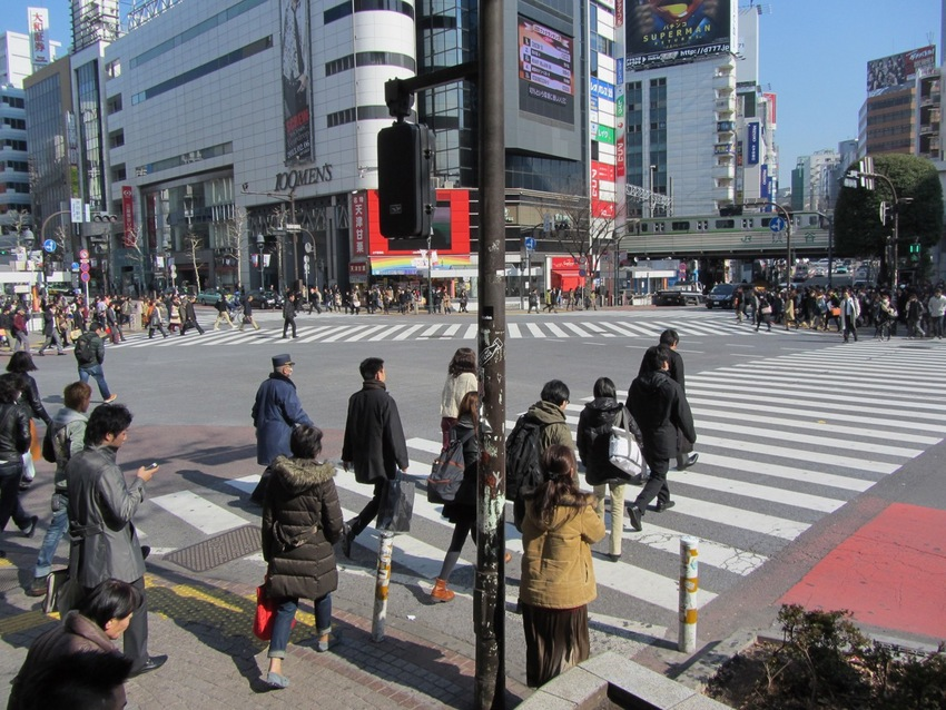 Shibuya Scramble Crossing in ...