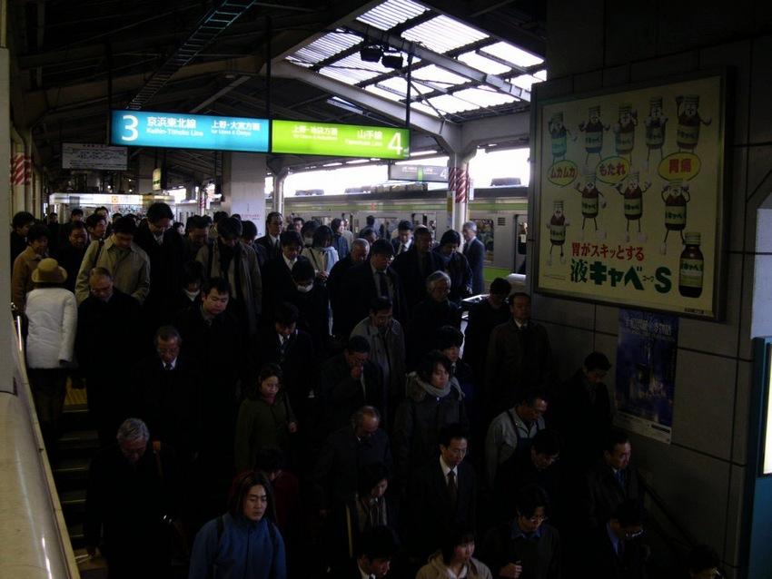 Rush Hour Train in Japan