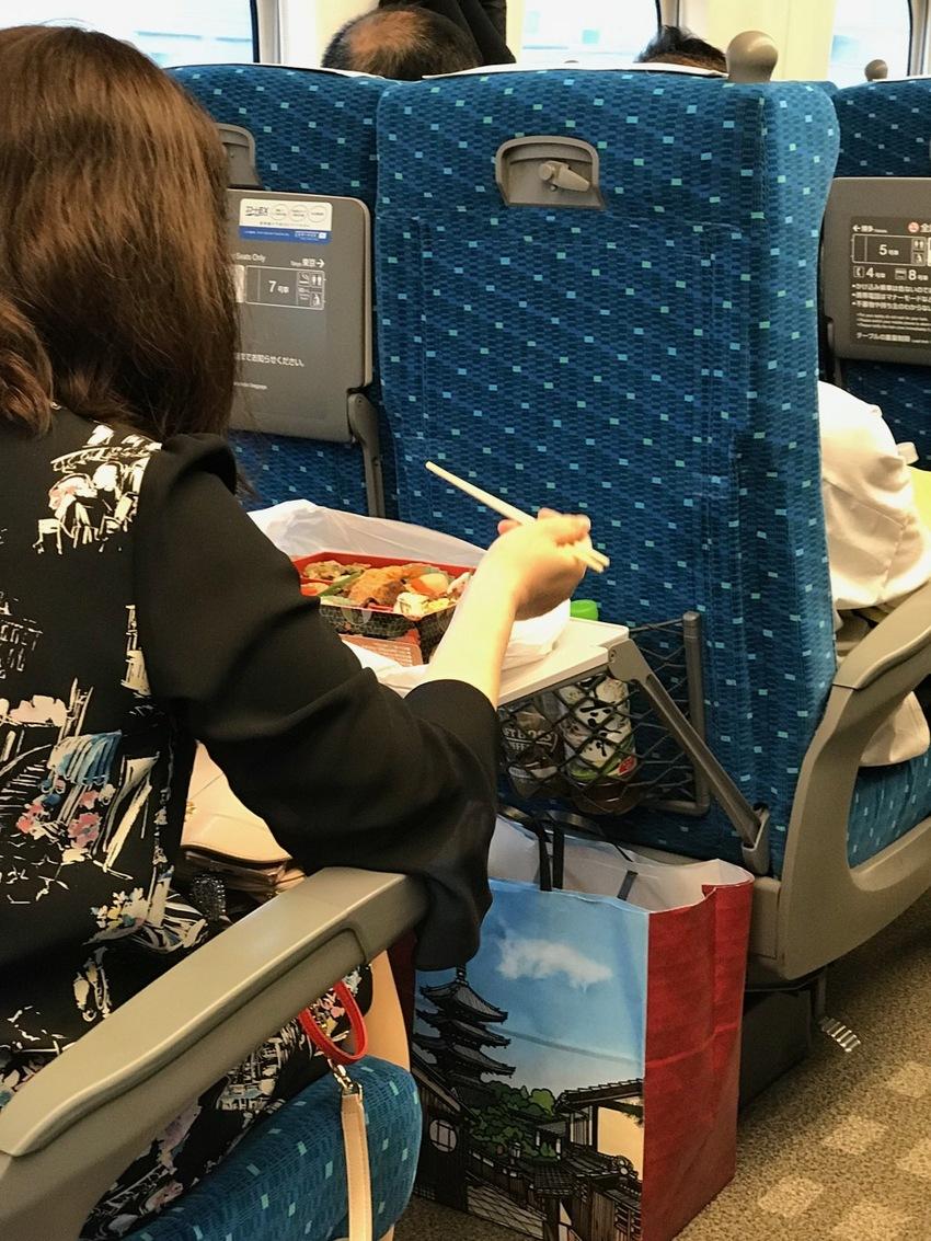 Eating in a Rail Car