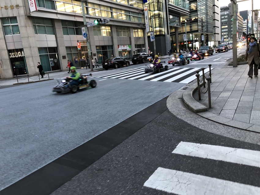 Only in Japan ... Gocarts on th...