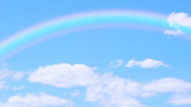 虹が見えます