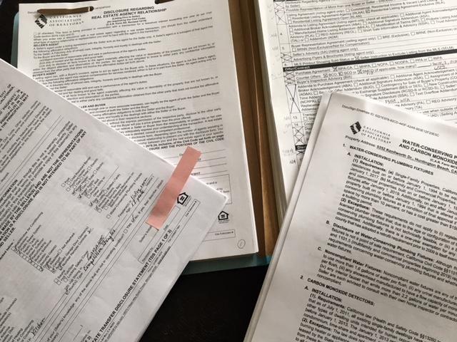 カリフォルニアの不動産の契約書