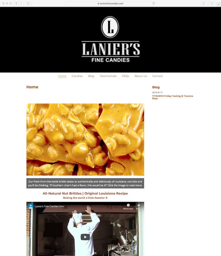 www.laniersfinecandies.com