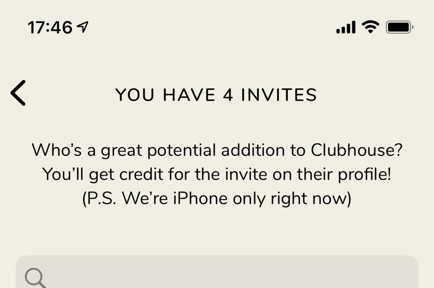 Clubhouse招待枠増えて...