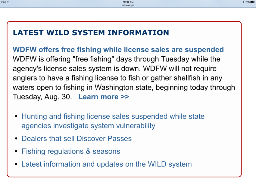 Server hacked welcome to ucikura s blog bloguru for How much is a fishing license in washington